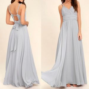 As Is Carte Blanche Light Grey Maxi Lulus Dress